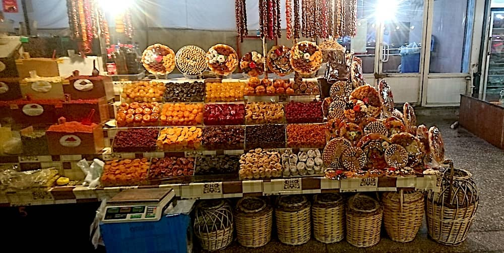 Dried fruits stall in the market